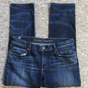 COH Blue Women's Mid Rise Cropped Capri Jeans